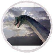 Dinosaur Sky Round Beach Towel
