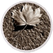 Dipped In Bronze Round Beach Towel
