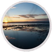 Discovery Park Reflections Round Beach Towel