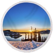 Discovery Point Sunrise Round Beach Towel