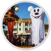 Disneyland Halloween 1 Round Beach Towel