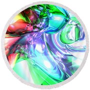Disorderly Color Abstract Round Beach Towel