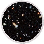 Distant Galaxies Round Beach Towel
