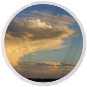Dive Into The Night Round Beach Towel