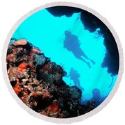 Diver Down Round Beach Towel