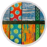 Diversity - Friction Between Factions V2 Round Beach Towel by Jeremy Aiyadurai