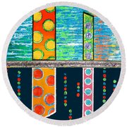 Diversity - Friction Between Factions V3 Round Beach Towel