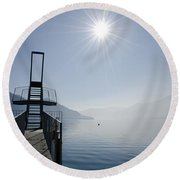 Diving Board Round Beach Towel