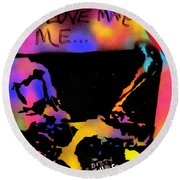 Dizzy 4 Your Love Round Beach Towel