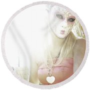 Mschronicchronicles Sunshine Lady Round Beach Towel