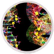 Dna Dreaming 1 Round Beach Towel