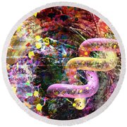 Dna Dreaming 3 Round Beach Towel
