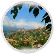 Do-00547 Town Of Bcharre Round Beach Towel