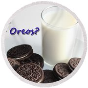 Do You Dunk Your Oreos Round Beach Towel by Barbara Griffin