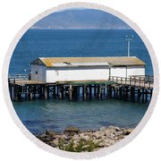 Dock At Point Reyes Calfornia . 7d16070 Round Beach Towel