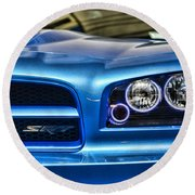 Dodge Charger Front Round Beach Towel