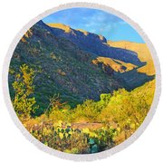 Dog Canyon Nm Oliver Lee Memorial State Park Round Beach Towel