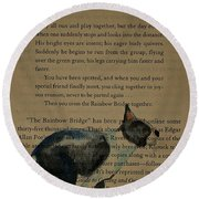 Dog Prayer Round Beach Towel