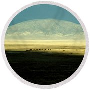 Dome Mountain Round Beach Towel