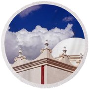 Dome Of The Mission San Xavier Round Beach Towel