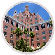 Don Cesar And Palms Round Beach Towel
