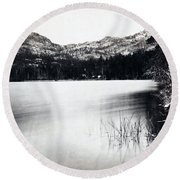 Donner Lake And Pass - California - C 1865 Round Beach Towel