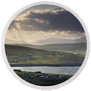 Dooagh, Achill Island, Co Mayo, Ireland Round Beach Towel