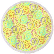 Doodles Round Beach Towel