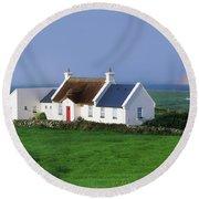 Doolin, Co Clare, Ireland Renovated Round Beach Towel