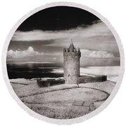 Doonagore Tower Round Beach Towel by Simon Marsden