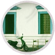 Doors And Chairs Round Beach Towel by Joana Kruse