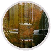 Doorway To Autumn Round Beach Towel