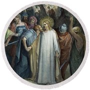 Dor�: Betrayal Of Christ Round Beach Towel