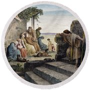 Dor�: Prodigal Son Round Beach Towel