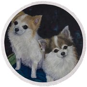 Dot And Dolly Round Beach Towel