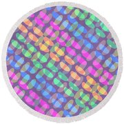 Dotted Check Round Beach Towel