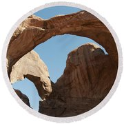 Double Arches Round Beach Towel