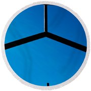 Double Blessed Round Beach Towel