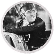 Douglas Fairbanks Round Beach Towel