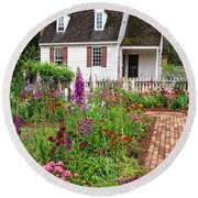 Down A Garden Path Round Beach Towel