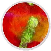 Down By The Pond Round Beach Towel