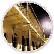 Downtown Balcony Baton Rouge Round Beach Towel