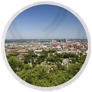 Downtown Birmingham Alabama On A Clear Day Round Beach Towel