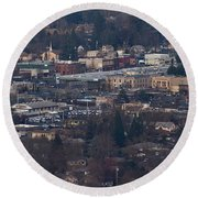 Downtown Grants Pass Sunday Morning Round Beach Towel