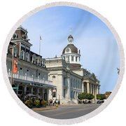Downtown Kingston Round Beach Towel