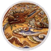 Dragon Art Round Beach Towel