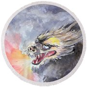 Dragon Of 2012  Round Beach Towel
