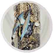 Dragon Reflexions And Repetition Round Beach Towel