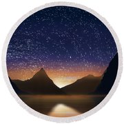 Dramatic Landscape  Round Beach Towel