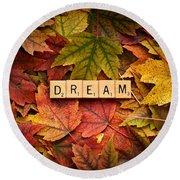 Dream-autumn Round Beach Towel
